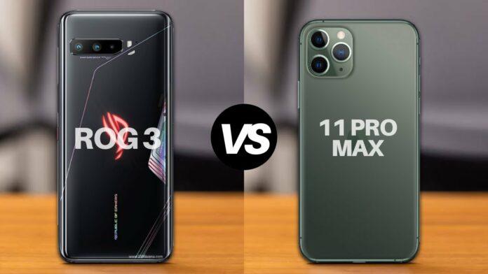 So sánh hiệu năng Asus ROG Phone 3 và iPhone 11 Pro Max