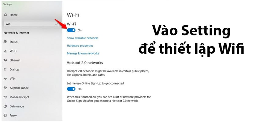 Cách 1: Bật chế độ kết nối wifi trên laptop - Ảnh 2