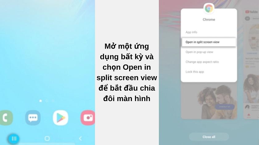 Cách chia đôi màn hình trên Samsung Galaxy A7 2018