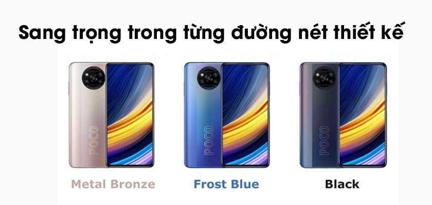 Xiaomi Poco X3 Pro thiết kế hiện đại, vô cùng thời trang